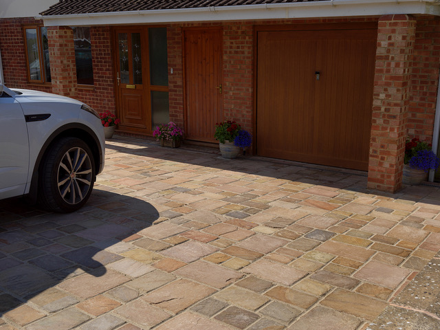 Natural stone driveways