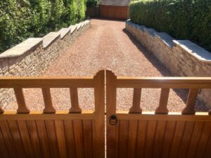 custom made timber gates