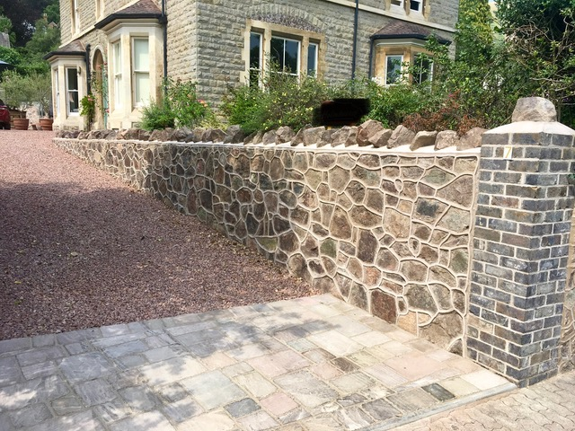 Walls, illustrated by this traditional malvern stone wall